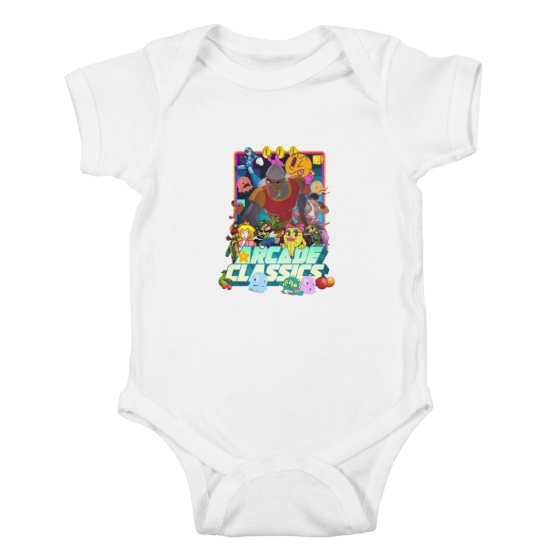 ARCADE CLASSICS 1 Kids Baby Bodysuit by Dedos tees