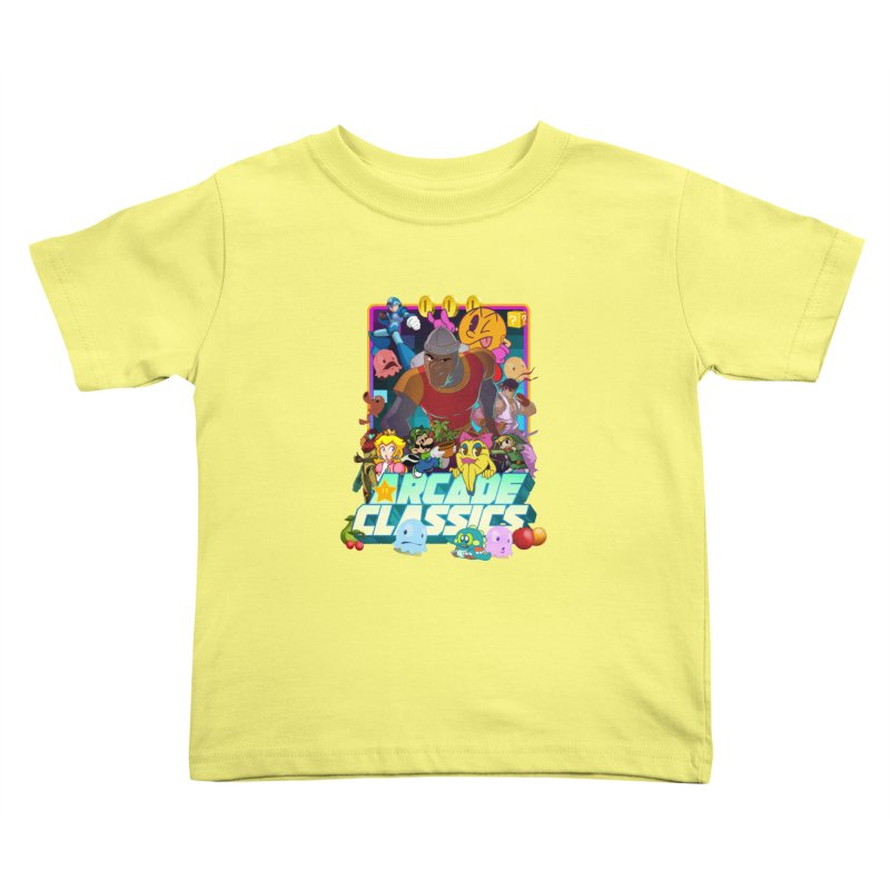 ARCADE CLASSICS 1 Kids Toddler T-Shirt by Dedos tees