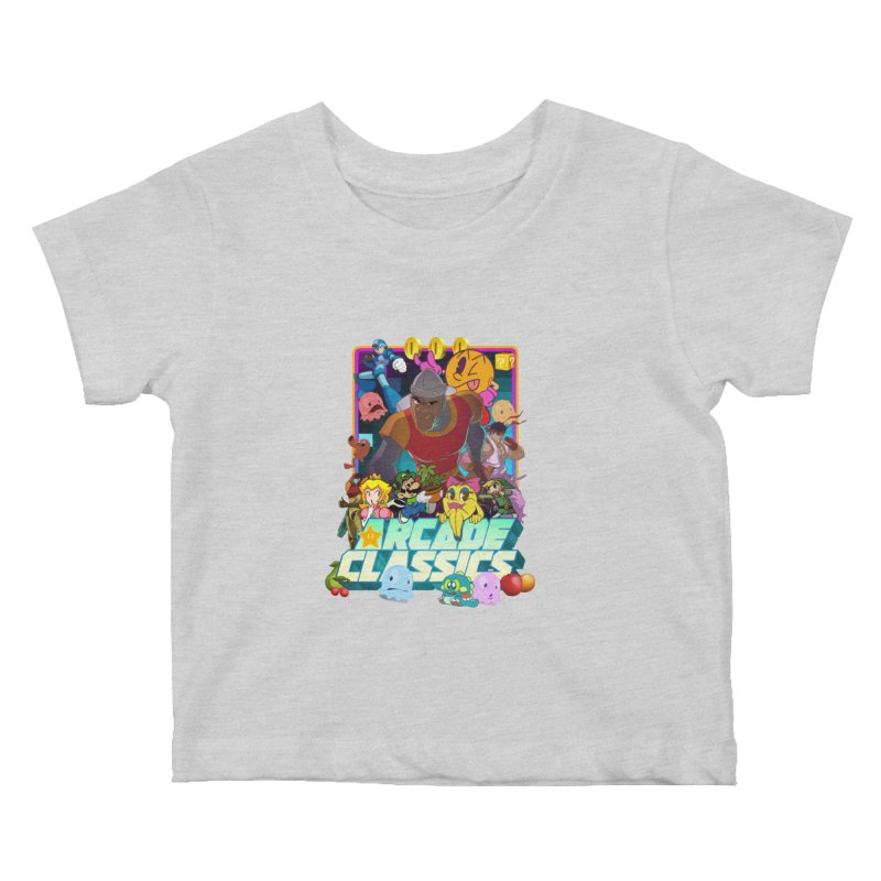 ARCADE CLASSICS 1 Kids Baby T-Shirt by Dedos tees