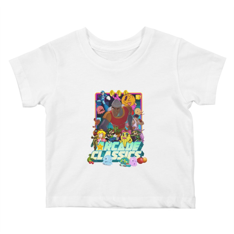 ARCADE CLASSICS 1 Kids Baby T-Shirt by Dedos tees
