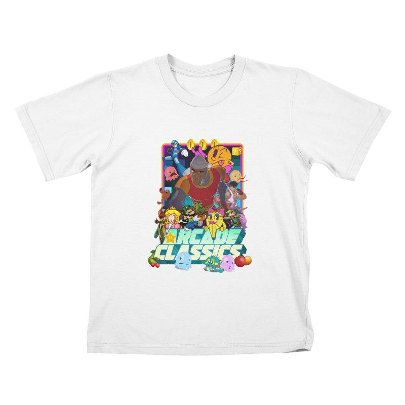 ARCADE CLASSICS 1 Kids T-Shirt by Dedos tees