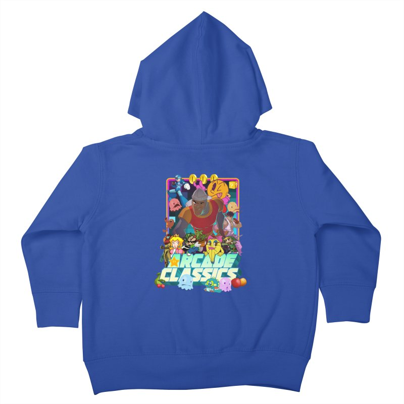 ARCADE CLASSICS 1 Kids Toddler Zip-Up Hoody by Dedos tees