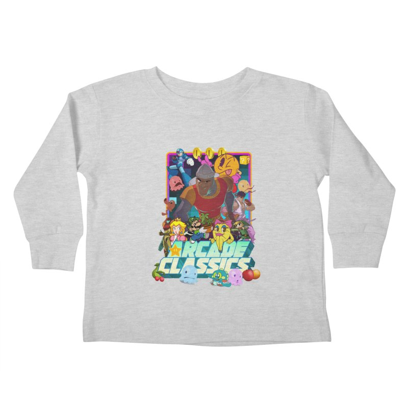ARCADE CLASSICS 1 Kids Toddler Longsleeve T-Shirt by Dedos tees