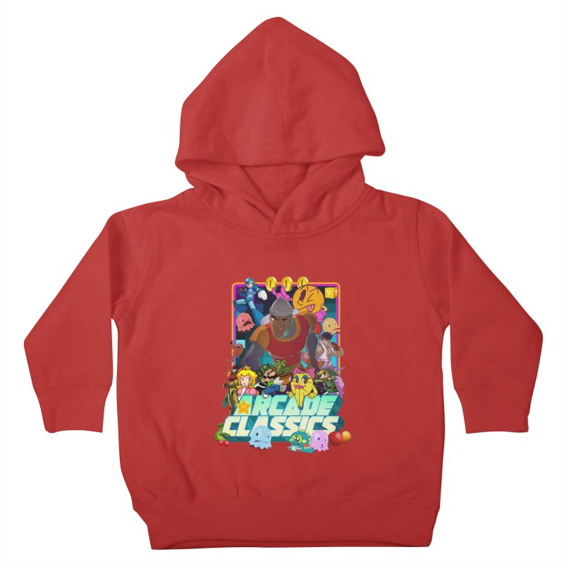 ARCADE CLASSICS 1 Kids Toddler Pullover Hoody by Dedos tees
