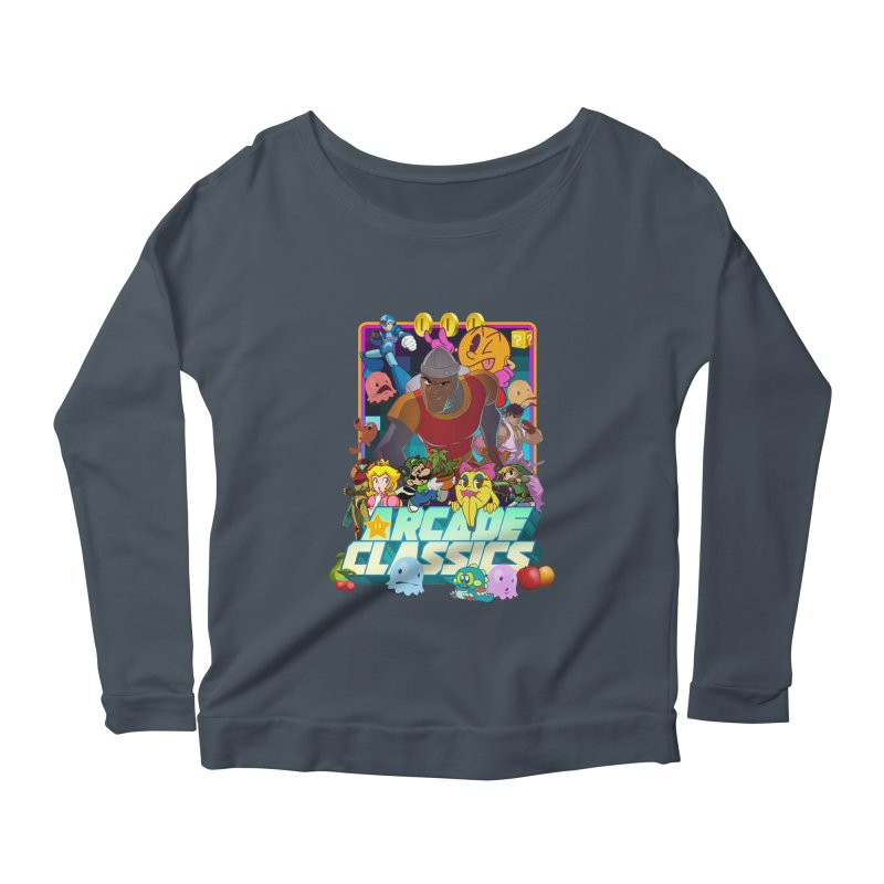 ARCADE CLASSICS 1 Women's Scoop Neck Longsleeve T-Shirt by Dedos tees