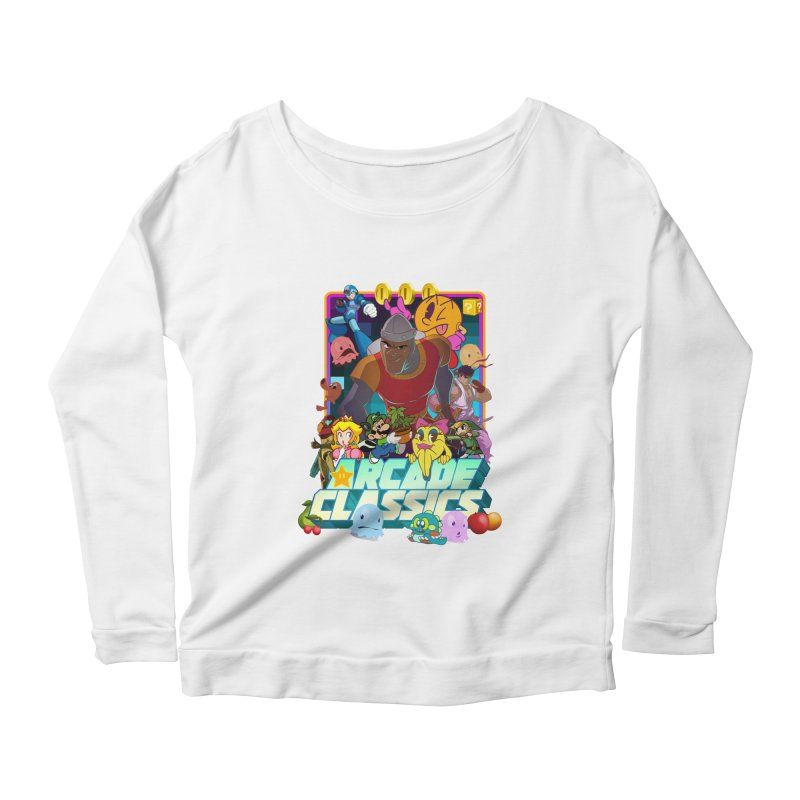 ARCADE CLASSICS 1 Women's Scoop Neck Longsleeve T-Shirt by Dedos tees