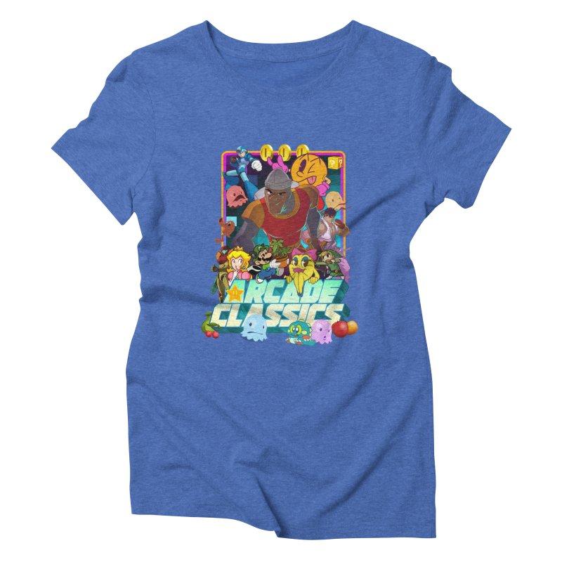 ARCADE CLASSICS 1 Women's Triblend T-Shirt by Dedos tees
