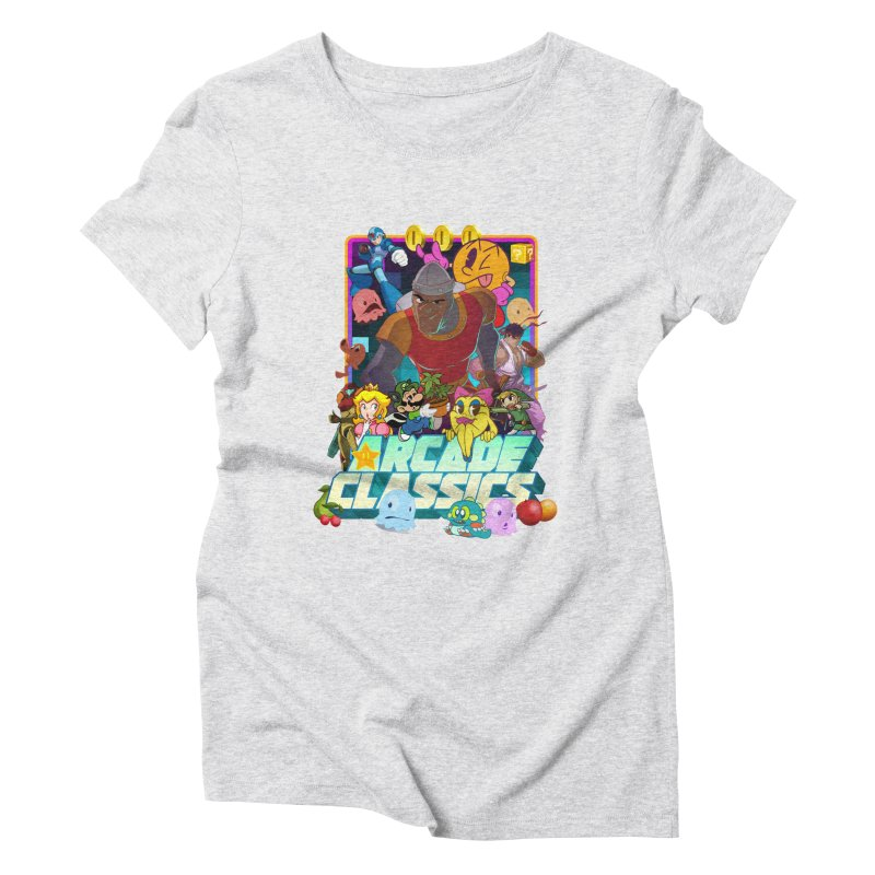 ARCADE CLASSICS 1 Women's Triblend T-Shirt by Dedos tees