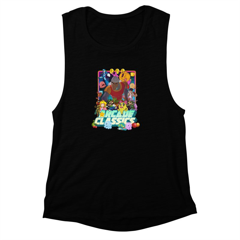 ARCADE CLASSICS 1 Women's Muscle Tank by Dedos tees