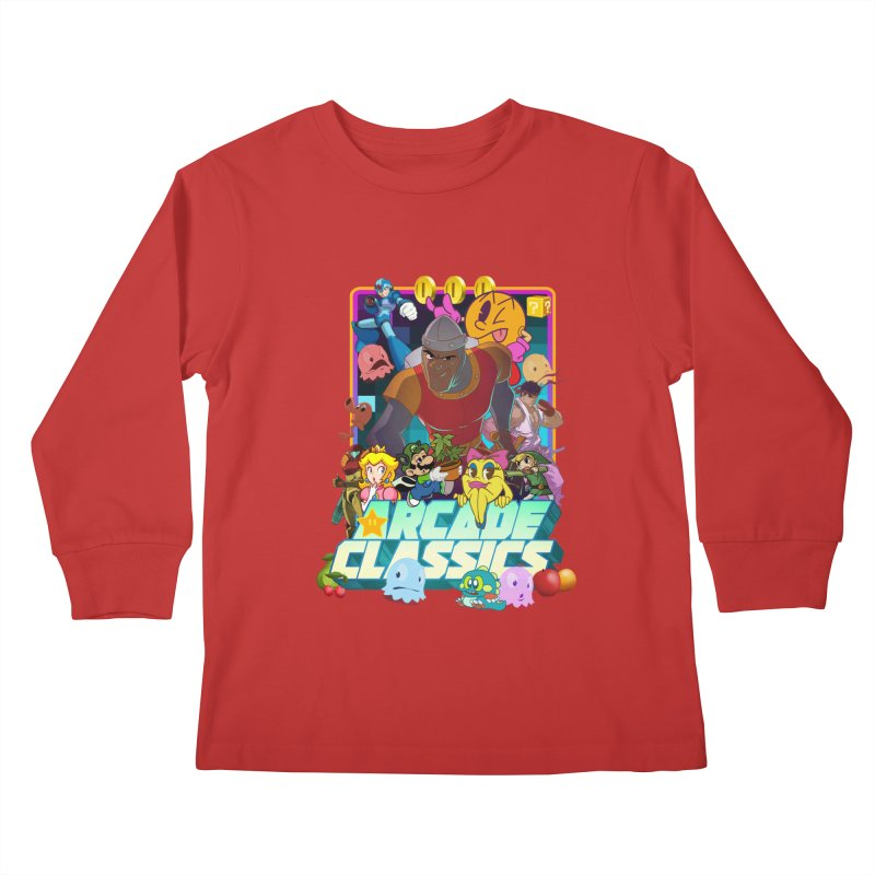 ARCADE CLASSICS 1 Kids Longsleeve T-Shirt by Dedos tees