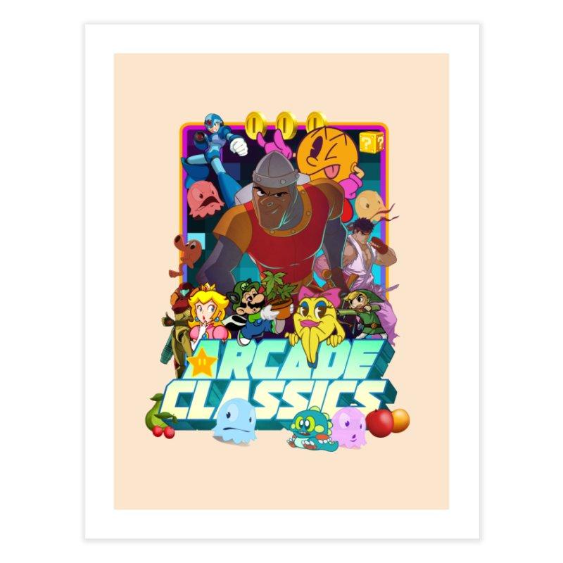ARCADE CLASSICS 1 Home Fine Art Print by Dedos tees