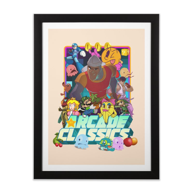 ARCADE CLASSICS 1 Home Framed Fine Art Print by Dedos tees