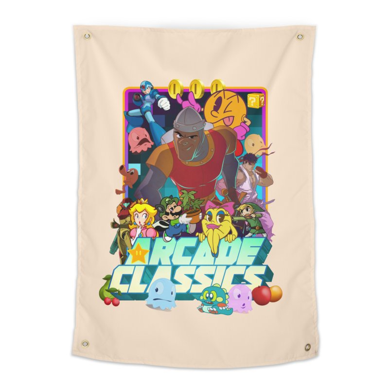 ARCADE CLASSICS 1 Home Tapestry by Dedos tees