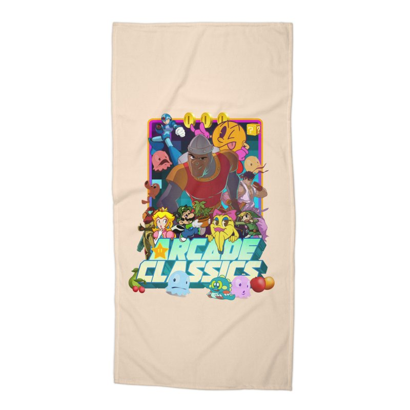ARCADE CLASSICS 1 Accessories Beach Towel by Dedos tees