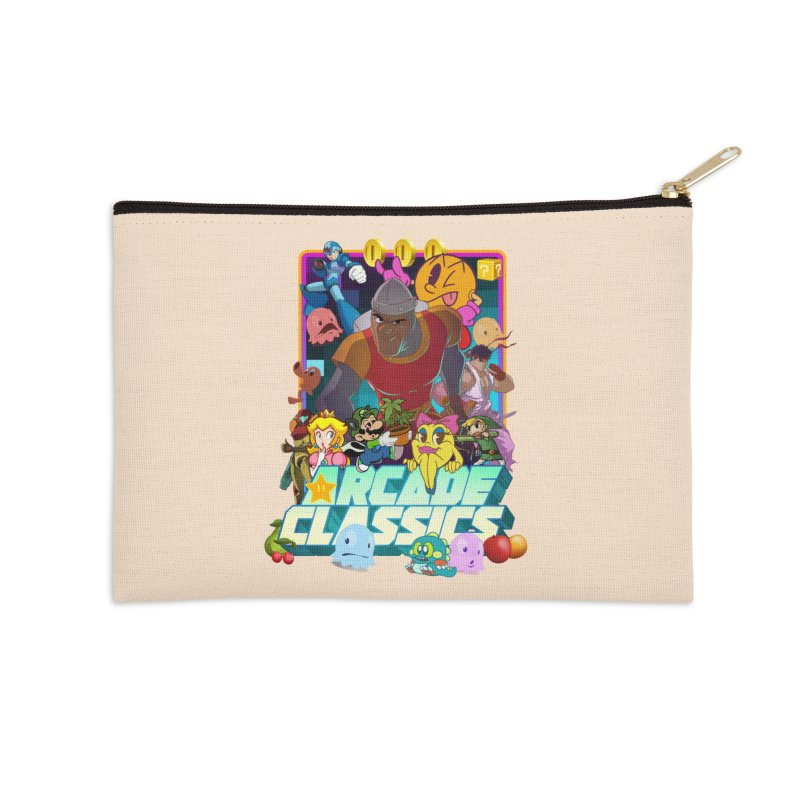 ARCADE CLASSICS 1 Accessories Zip Pouch by Dedos tees