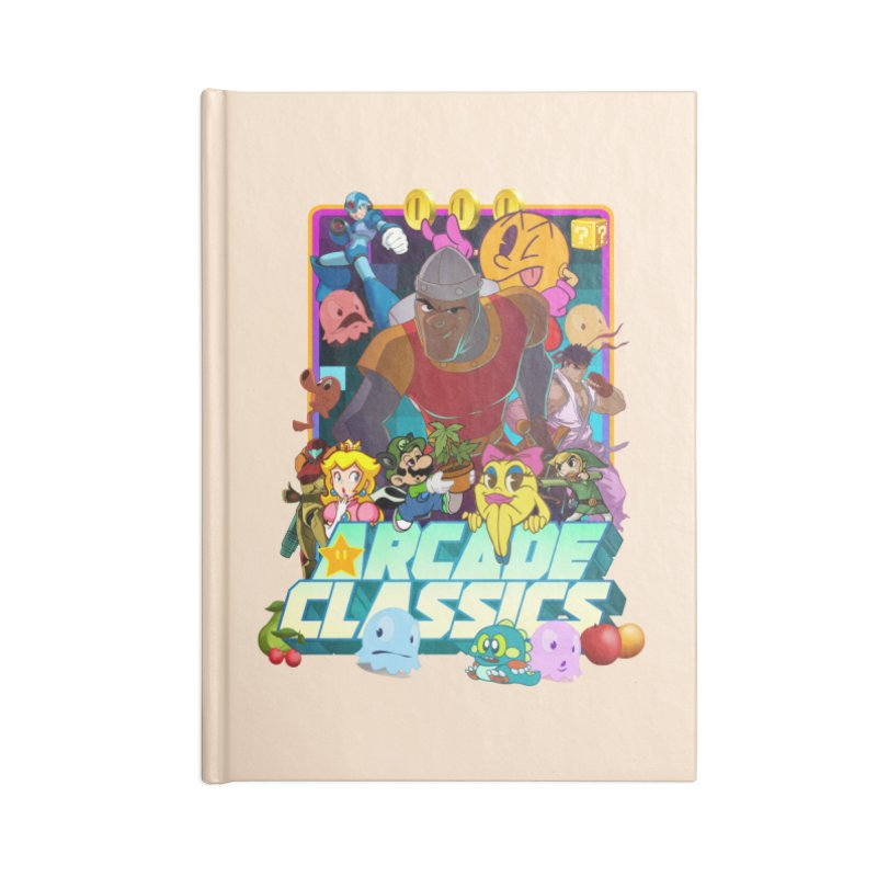 ARCADE CLASSICS 1 Accessories Lined Journal Notebook by Dedos tees