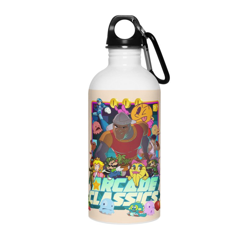 ARCADE CLASSICS 1 Accessories Water Bottle by Dedos tees