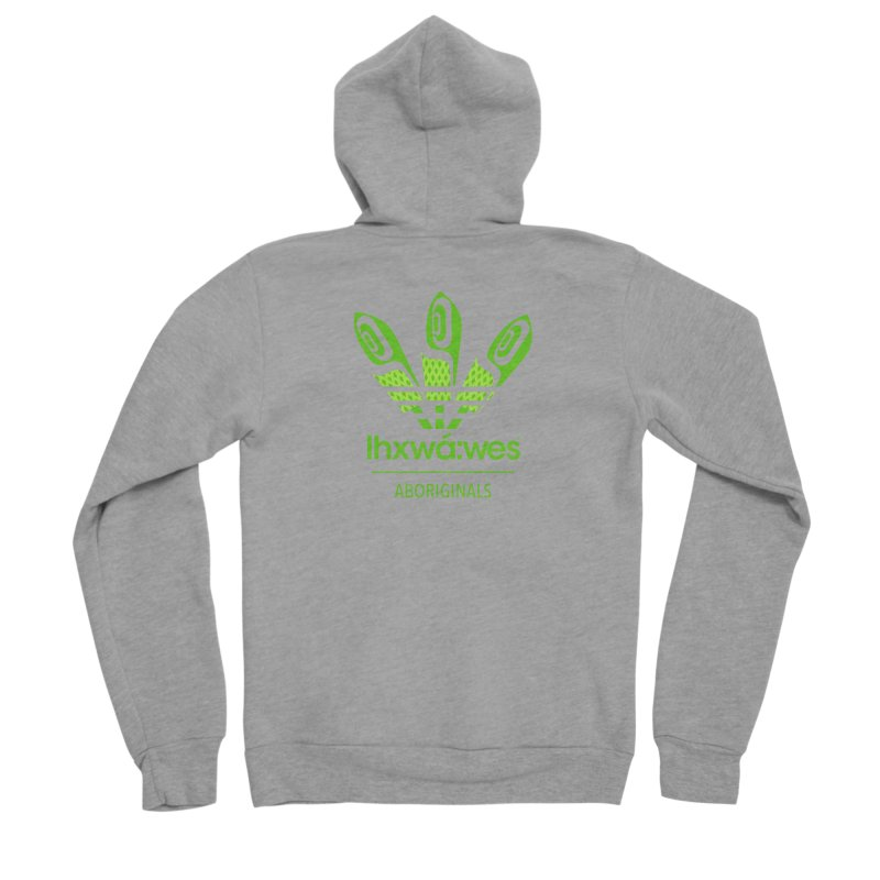 aboriginals green Men's Sponge Fleece Zip-Up Hoody by Dedos tees