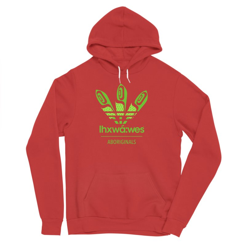 aboriginals green Women's Sponge Fleece Pullover Hoody by Dedos tees