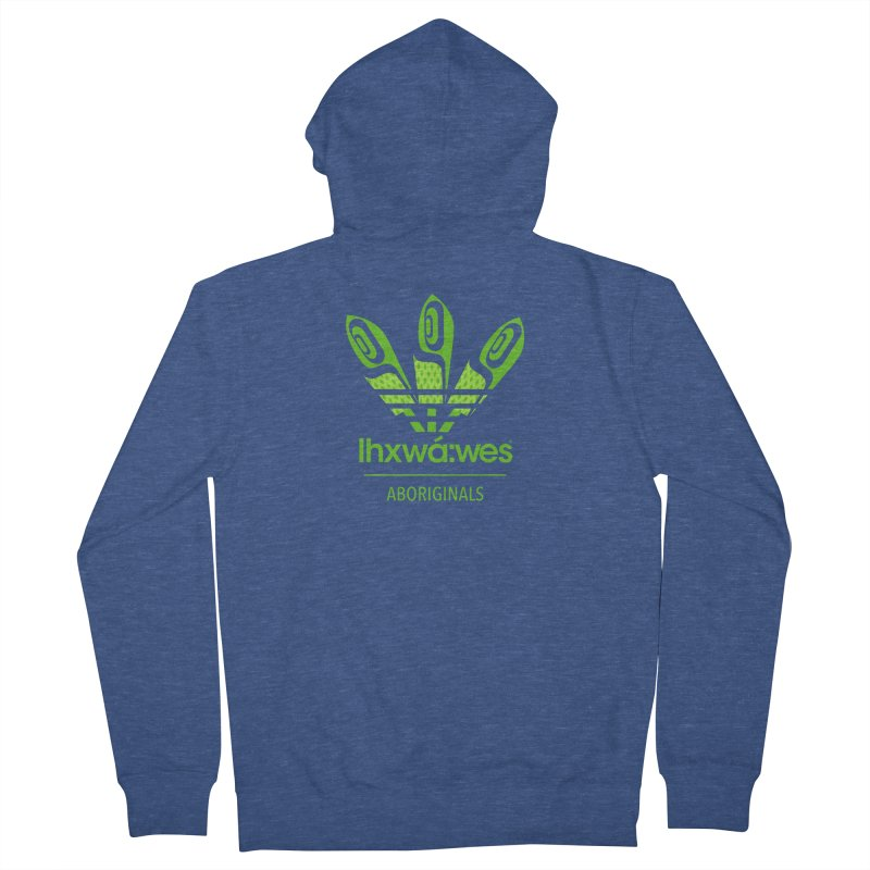 aboriginals green Men's French Terry Zip-Up Hoody by Dedos tees