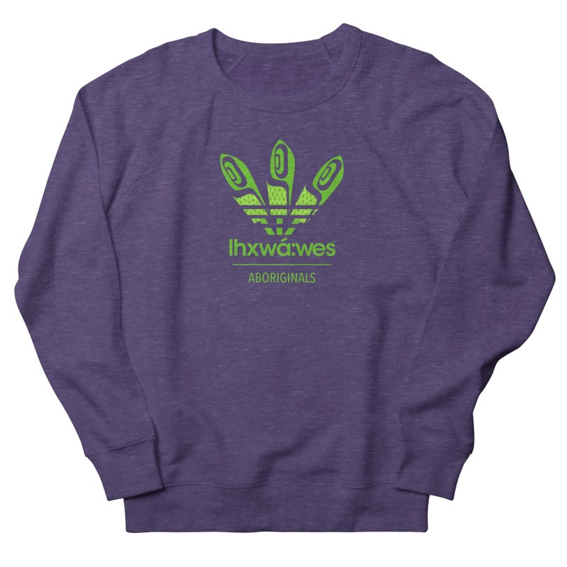 aboriginals green Women's French Terry Sweatshirt by Dedos tees