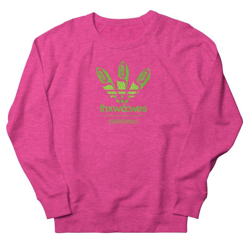 aboriginals green Women's French Terry Sweatshirt by Dedos tees