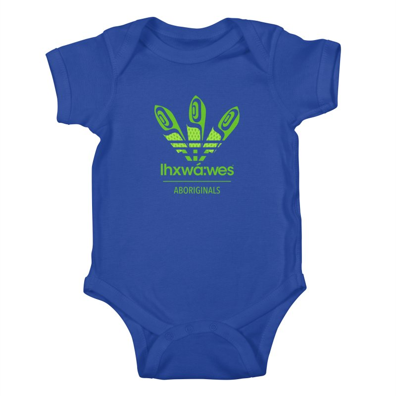 aboriginals green Kids Baby Bodysuit by Dedos tees