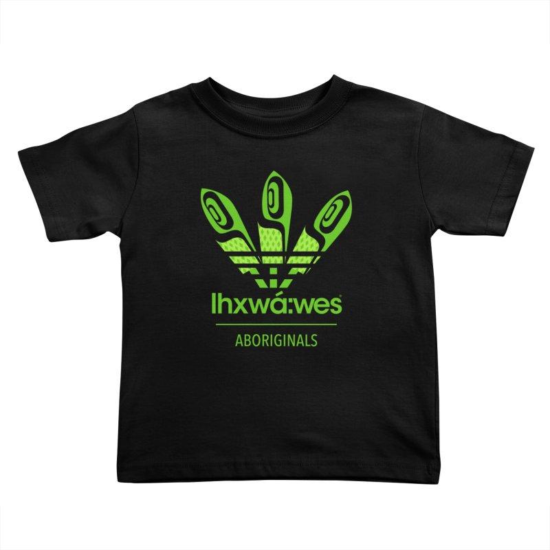 aboriginals green Kids Toddler T-Shirt by Dedos tees