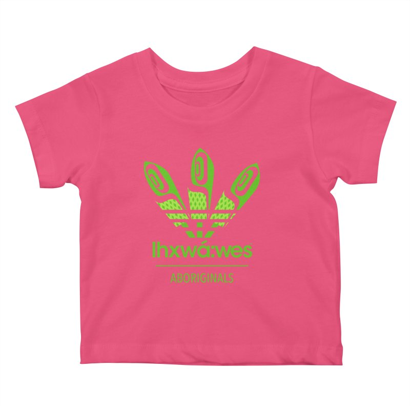 aboriginals green Kids Baby T-Shirt by Dedos tees