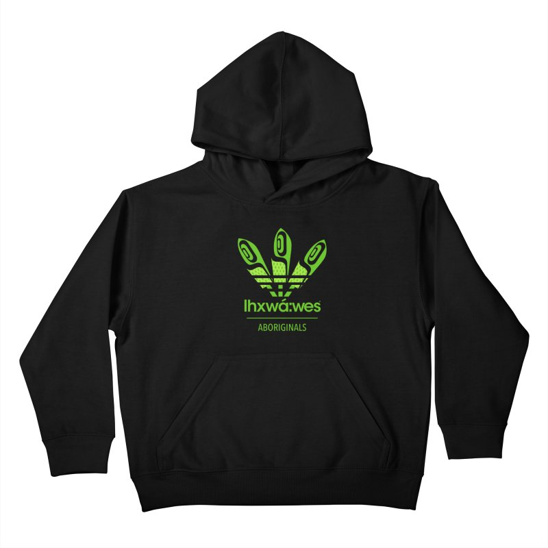 aboriginals green Kids Pullover Hoody by Dedos tees