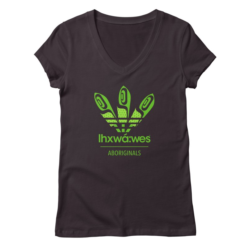 aboriginals green Women's Regular V-Neck by Dedos tees