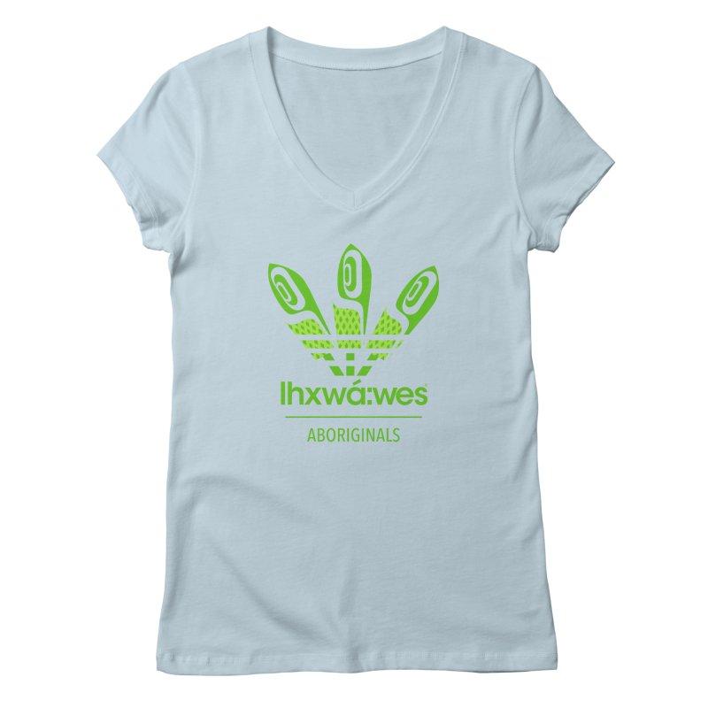 aboriginals green Women's Regular V-Neck by Dedos tees