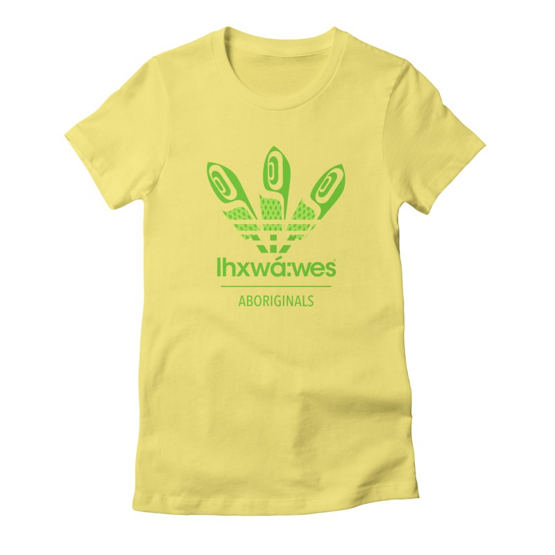aboriginals green Women's Fitted T-Shirt by Dedos tees