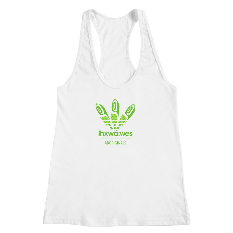 aboriginals green Women's Racerback Tank by Dedos tees