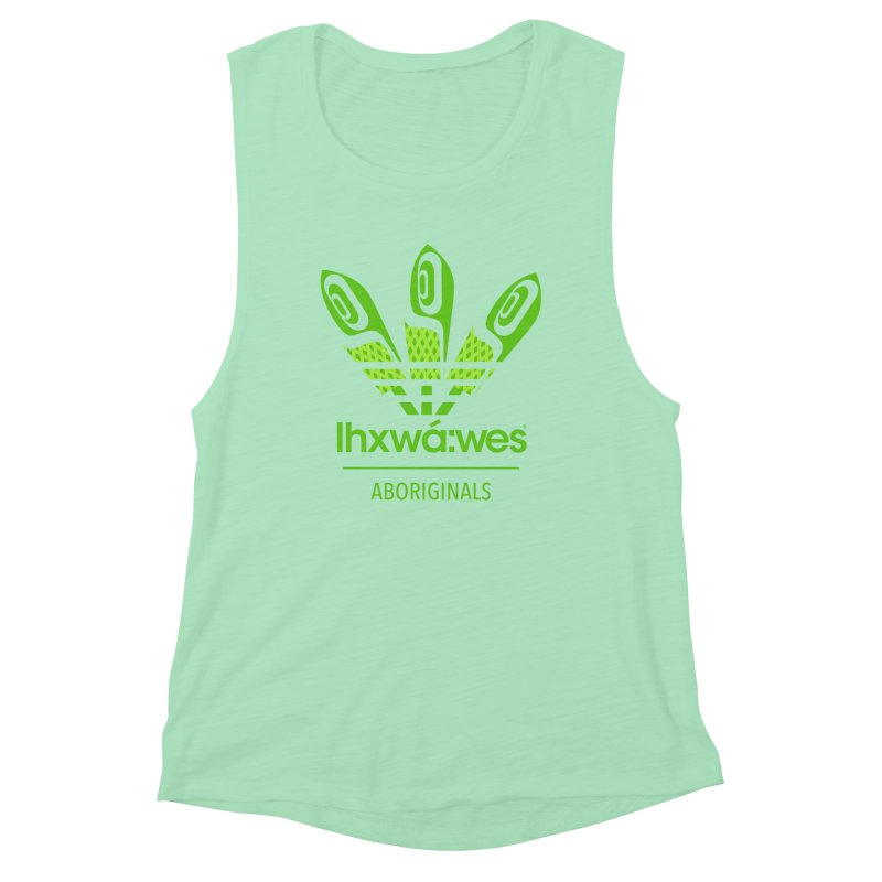 aboriginals green Women's Muscle Tank by Dedos tees