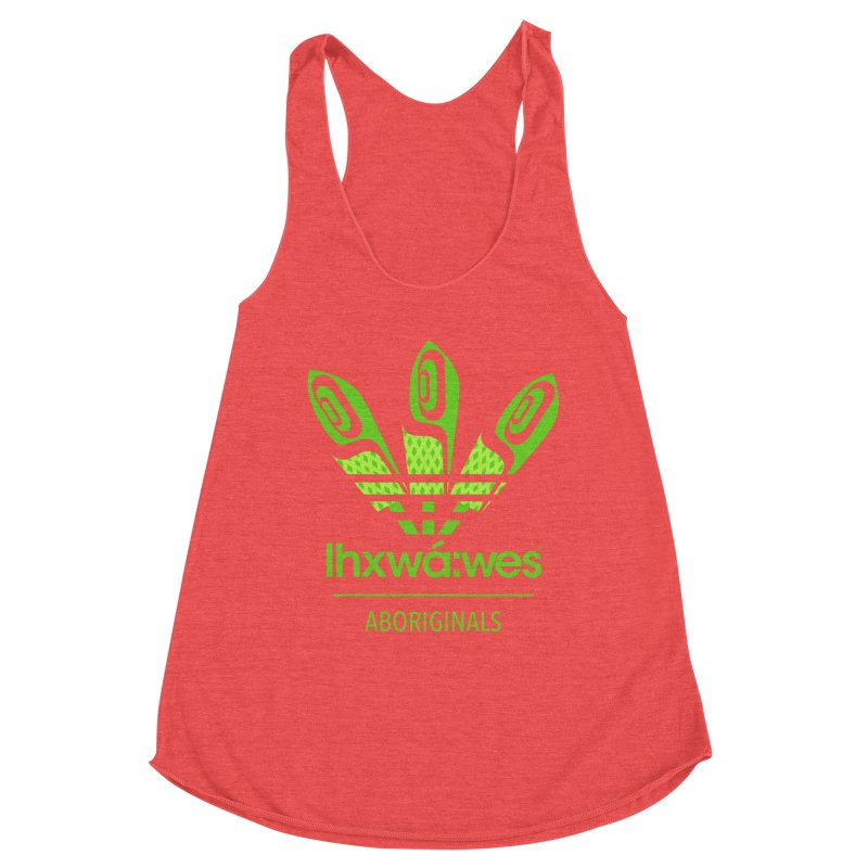 aboriginals green Women's Racerback Triblend Tank by Dedos tees