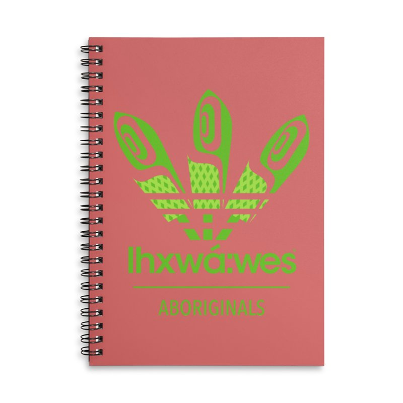 aboriginals green Accessories Lined Spiral Notebook by Dedos tees