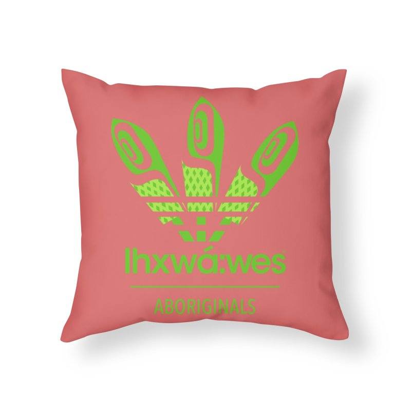 aboriginals green Home Throw Pillow by Dedos tees