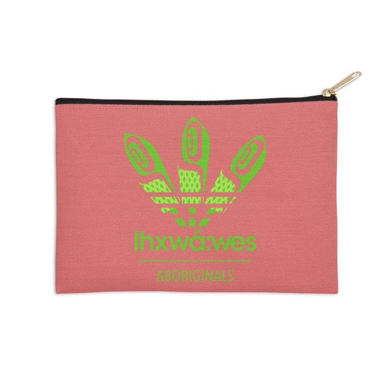 aboriginals green Accessories Zip Pouch by Dedos tees