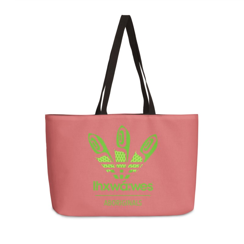 aboriginals green Accessories Weekender Bag Bag by Dedos tees
