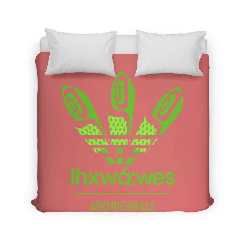 aboriginals green Home Duvet by Dedos tees