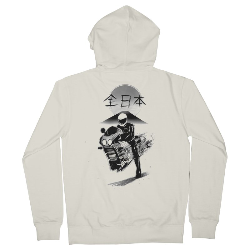 All Japan Autobike - LoFi Edition Women's French Terry Zip-Up Hoody by Dega Studios