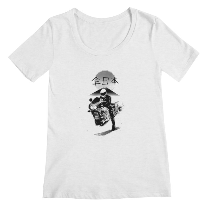 All Japan Autobike - LoFi Edition Women's Regular Scoop Neck by Dega Studios