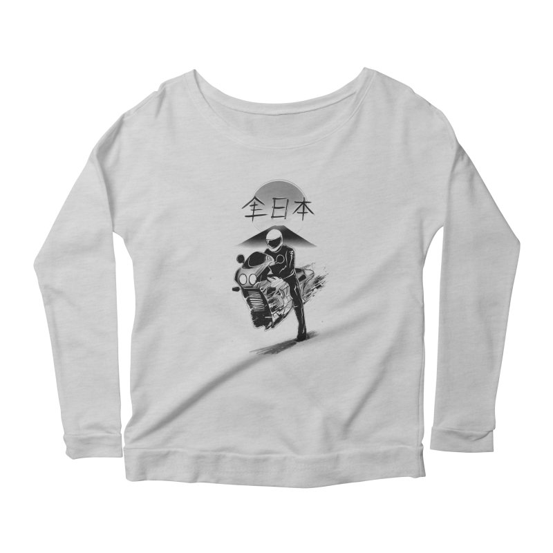 All Japan Autobike - LoFi Edition Women's Scoop Neck Longsleeve T-Shirt by Dega Studios