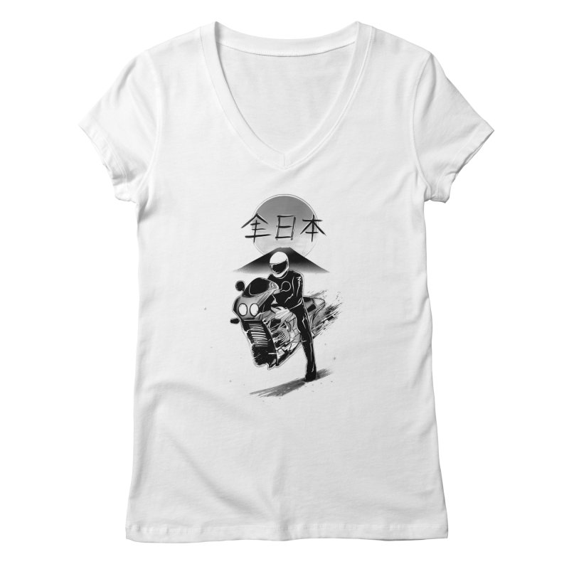 All Japan Autobike - LoFi Edition Women's Regular V-Neck by Dega Studios