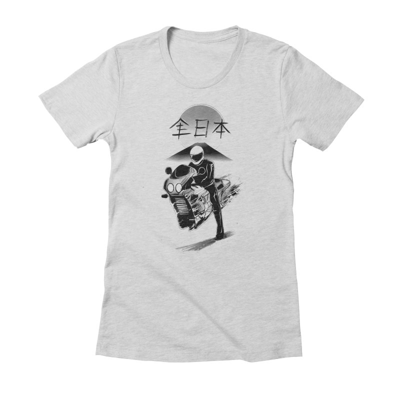 All Japan Autobike - LoFi Edition Women's Fitted T-Shirt by Dega Studios