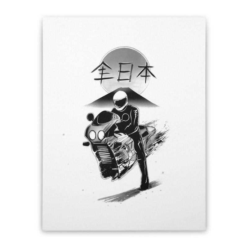 All Japan Autobike - LoFi Edition Home Stretched Canvas by Dega Studios
