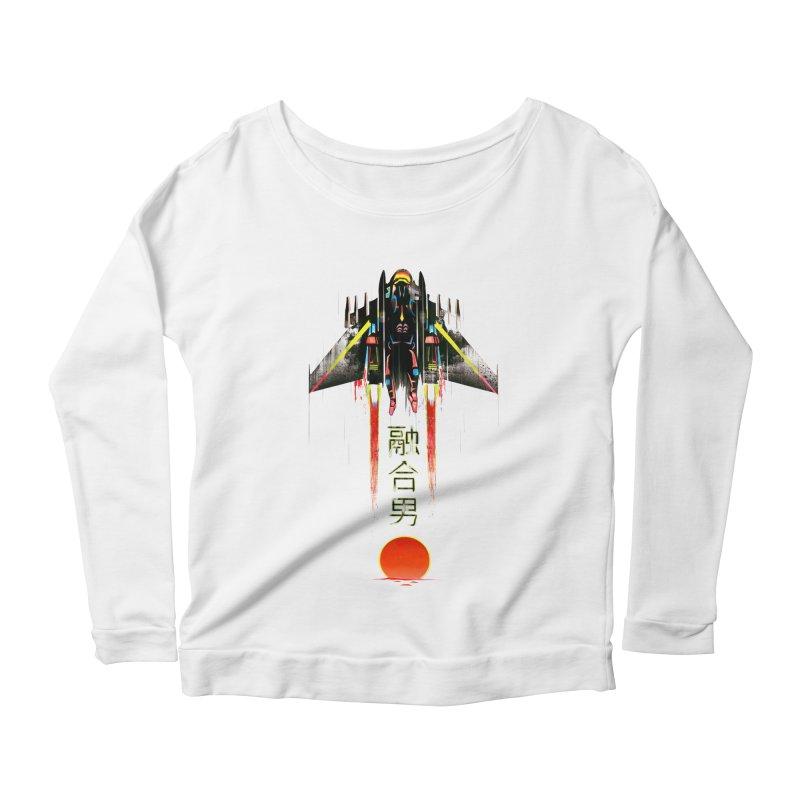 Fusionman Women's Scoop Neck Longsleeve T-Shirt by Dega Studios