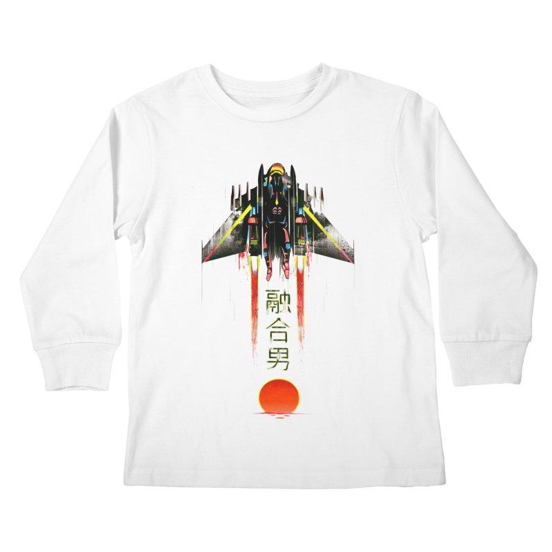 Fusionman Kids Longsleeve T-Shirt by Dega Studios