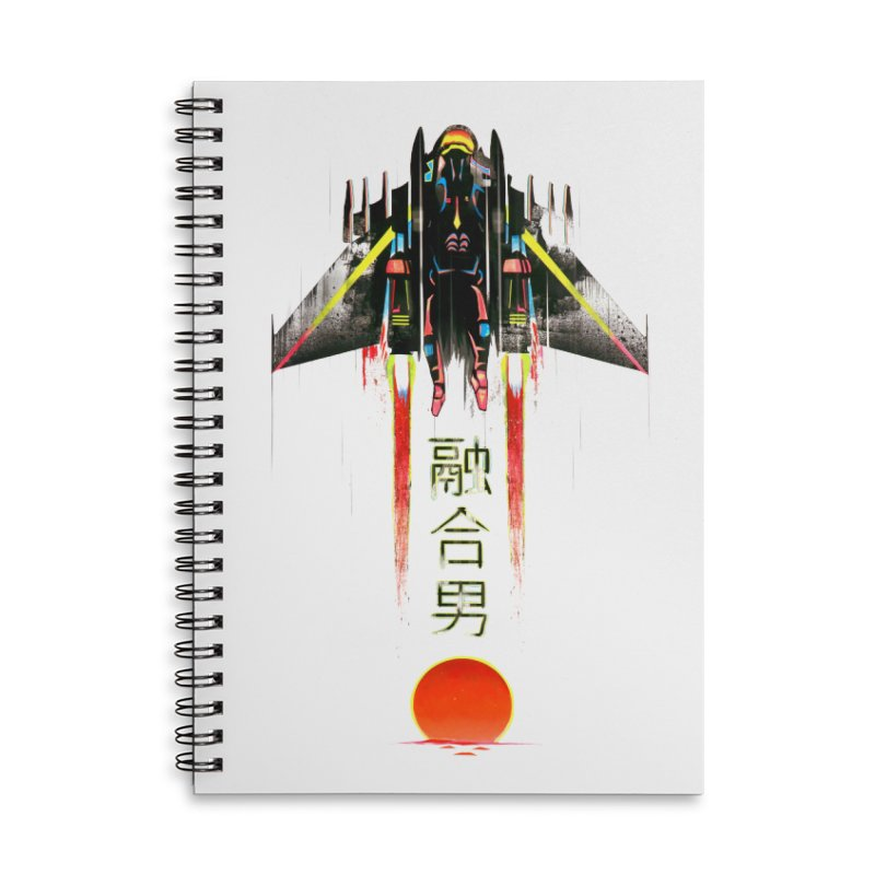 Fusionman Accessories Lined Spiral Notebook by Dega Studios